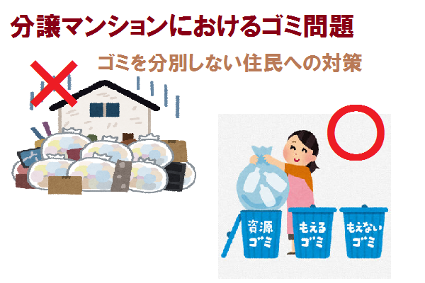 分譲マンションにおけるゴミ問題|ゴミを分別しない居住者への対策