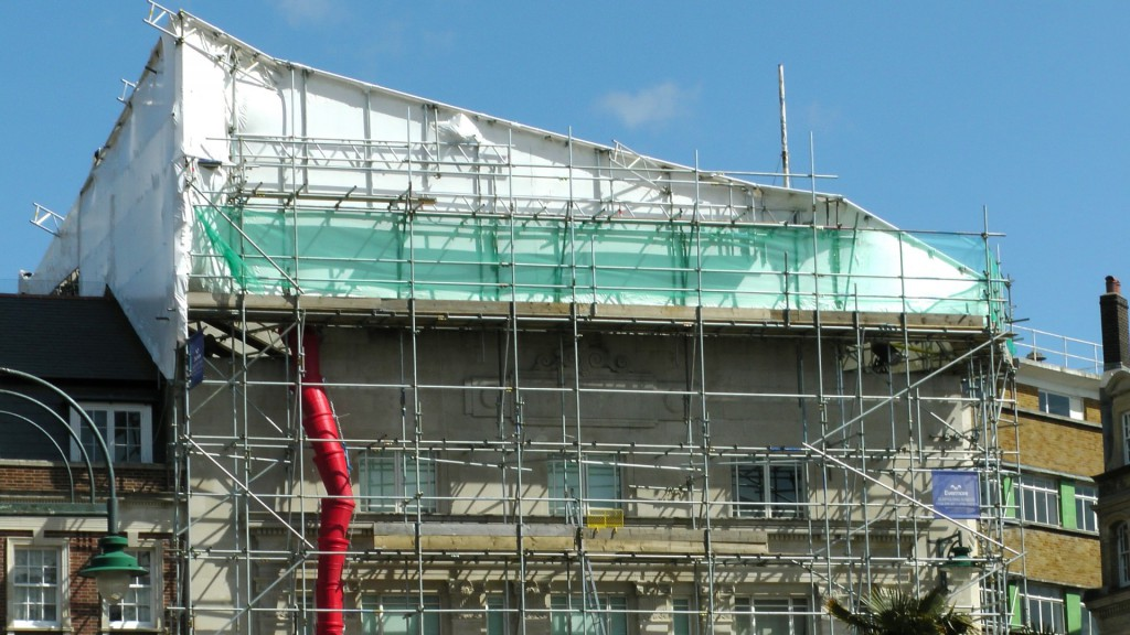 scaffolding-on-building