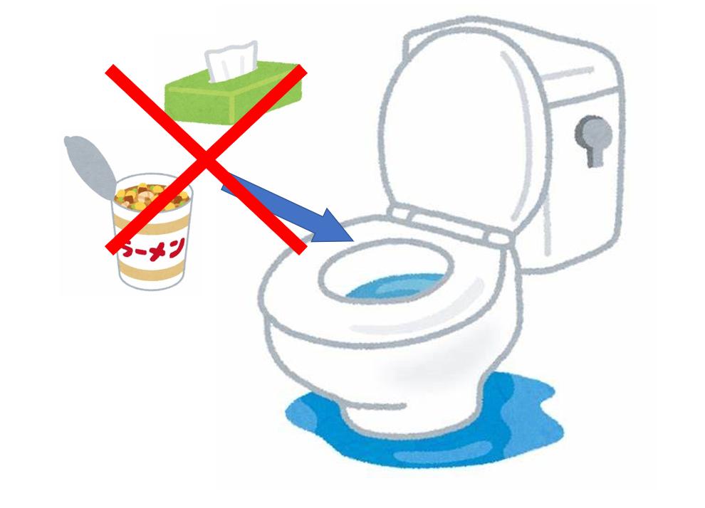 トイレが詰まって流れない!原因や対処法について